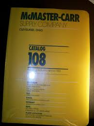 McMaster Carr Supply Company Catalog 108 Amazon Books