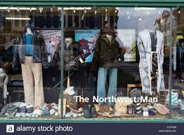 Window Display Of The Northwest Man Outdoor Clothing Store Port Townsend Olympic Peninsula Washington USA
