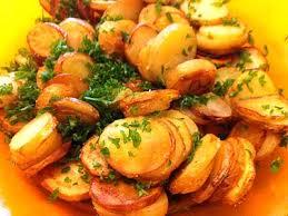 cuisiner la pomme de terre pommes de terre rattes rissolées en persillade la cuisine des jours
