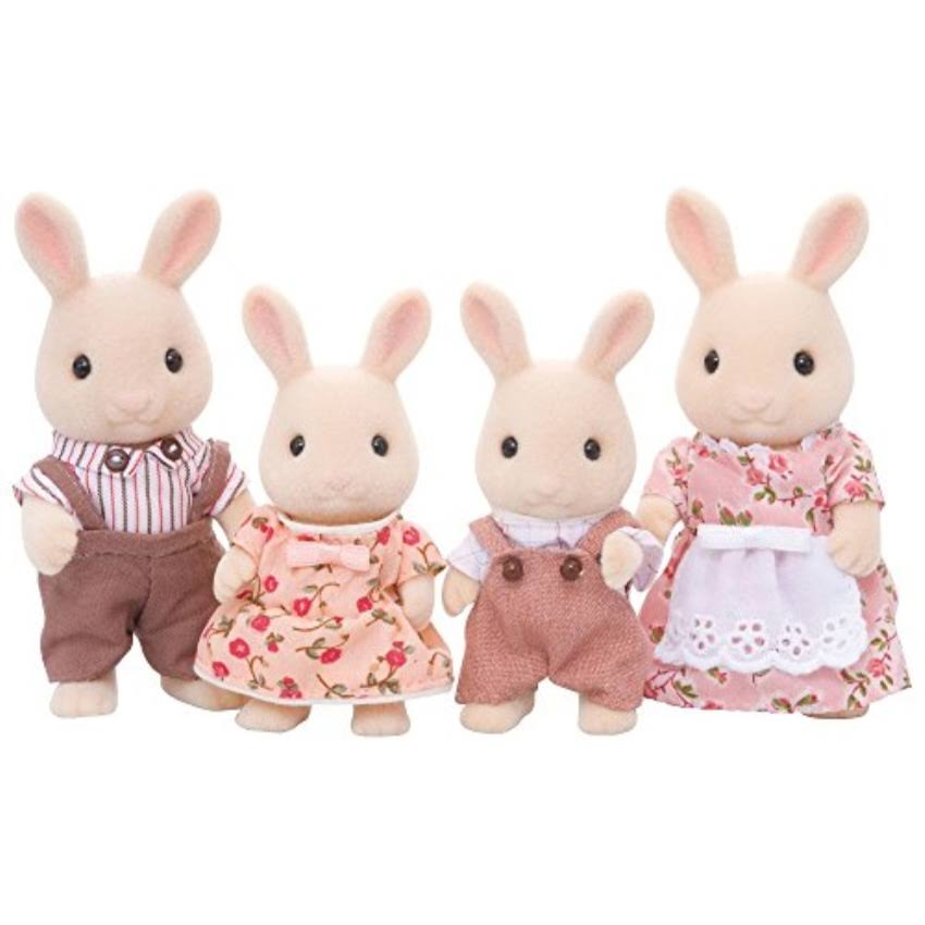 Calico Critters Sweetpea Rabbit Family Dolls Set