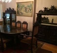 Antique19th Century Horner Carved Solid Oak Dining Room Set