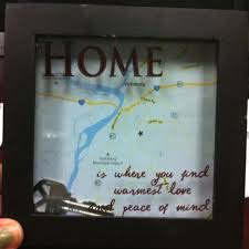 Our First Home Shadow Box Only 6 5 Frame From Freds Free Map