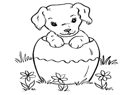 Image Of Puppy Coloring Pages Printable