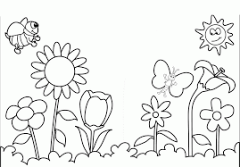 Spring Flowers Colouring Pages Printout