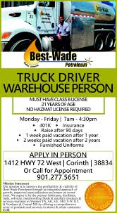 Truck Driver, Best Wade Petroleum Customer Testimonials Class A Cdl Truck Driver For A Local Nonprofit Oncall Amity Or Driving Jobs Job View Online Schneider Trucking Find Truck Driving Jobs In Ga Cdl Drivers Get Home Driversource Inc News And Information The Transportation Industry 20 Resume Sample Melvillehighschool For Study Why Veriha Benefits Of With Memphis Tn Best Resource Class Driver Louisville Ky 5k Bonus