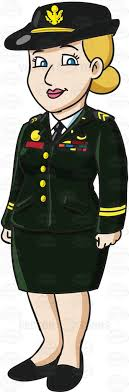 A Female Officer In An Army Service Dress Uniform