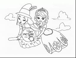 Good Sofia The First Coloring Page With Princess Pages And Halloween