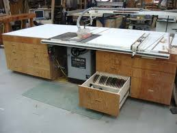 Sawstop Cabinet Saw Outfeed Table by Outfeed Table For Delta Unisaw Woodshop Pinterest