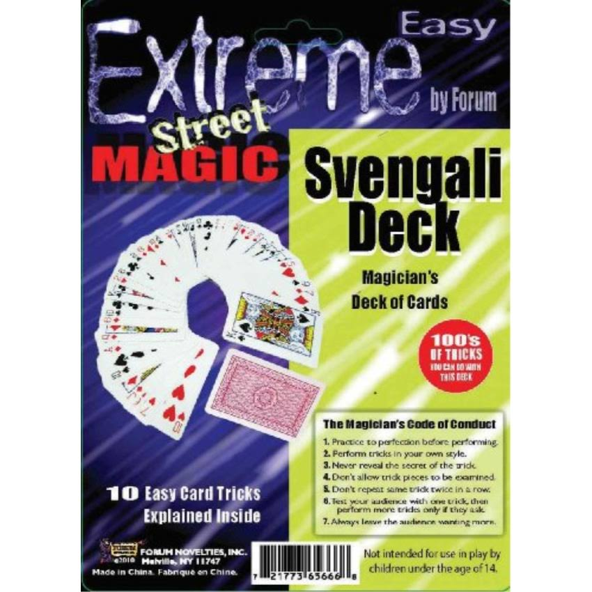 Forum Novelties Extreme Street Magic Svengali Magicians Card Deck