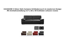 cavadore 3 sitzer sofa corianne echtledercouch im modernen