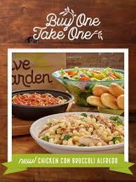 Olive Garden Buy one take one Entrée