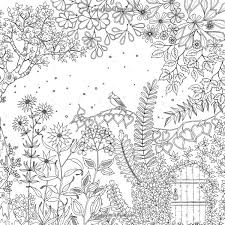 Review Coloring Book Secret Garden Free Pages