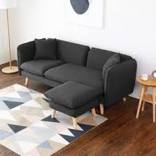 pouf de canapé concept usine isko canapé scandinave 3 places gris anthracite