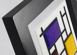 Fused Glass Wall Art De Stijl