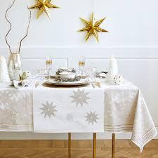nappe étoiles or et argent nappes et serviettes table noël