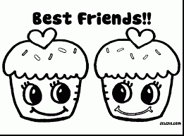 Remarkable Best Friends Coloring Pages For Kids With Friendship And Sunday