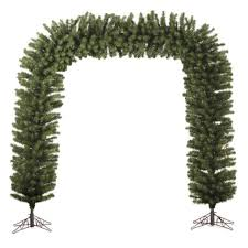 9 x 8 huge pre lit green pine artificial christmas archway