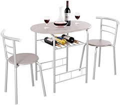 costway 3 tlg küchenbar bartisch 2 barhocker küchentheke mit ablage bartresen küchentisch tresentisch küche sitzgruppe für bar wohnzimmer