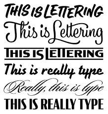 Nice Different Types Letter Styles Lettering Is Not Type · News