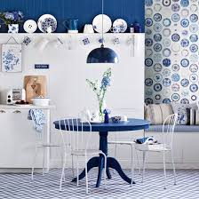 White And Navy Kitchen Decor