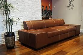 quattro meble lange echtleder 3 sitzer sofa breite 238cm ledersofa echt leder große farbauswahl