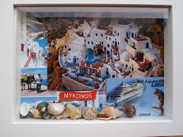 Cruise Ship Sinking Santorini by Travel Shadow Boxes The Little Yaris Diary