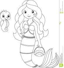 Barbie Mermaid Coloring Pages Printable Colouring Pictures Page Royalty Free Stock Image To Print Large