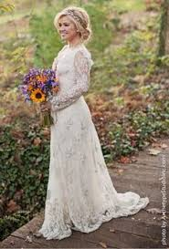 Im Not That Much Sure But These Pretty Long Sleeves Rustic Wedding Dress Country Boho Look It Does Make Sense However