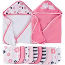 Pink Bathroom Sets Walmart by Gerber Newborn Baby Towels And Washcloth Bath Set 12 Piece