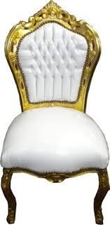 barock esszimmer stuhl weiß gold ludwig xiv stuhl wohnung wohnen rokoko jugendstil edel