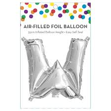 AirFilled Letter W Foil Balloon Kmart