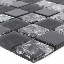 glas naturstein mosaik fliesen selbstklebend kastos schwarz