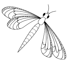 Cute Dragonfly Coloring Pages 6