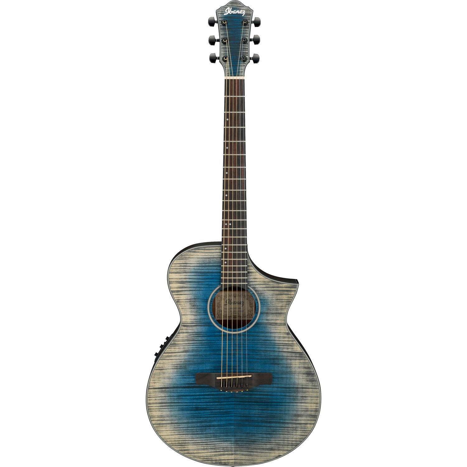 Ibanez AEWC32FM Acoustic-Electric Guitar - Glacier Blue Low Gloss
