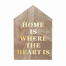 LED Lit Home Is Where The Heart Sign
