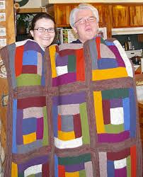 Ravelry Learn to Knit a Log Cabin Blanket pattern by Staci Perry