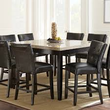 5 Piece Counter Height Dining Room Sets by Steve Silver Company Mc5454pt Monarch Marble Veneer Top Counter