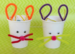 Easter Bunny Treat Cups Kids Crafts