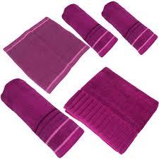 paket bad set 5tlg baumwolle duschtuch 2 handtücher seiftuch und fußmatte 6 farben