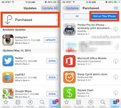 How to Get a List of Purchased Apps Not Installed on an iPhone