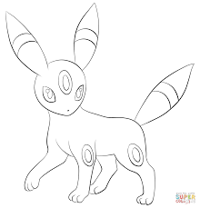 Click The Umbreon Coloring Pages To View Printable