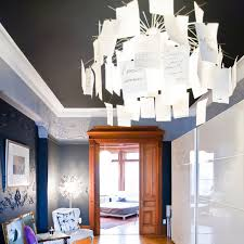 Nordic Romantic Love Letter Printing Paper DIY Chandelier For Study Bedroom Living Room Dining Light