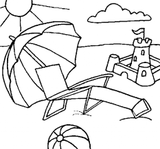 Beach Coloring Pages Getcoloringpages Regarding Scene With Regard To Encourage