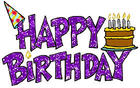 Happy birthday graphics Animated Happy Birthday Clip Art