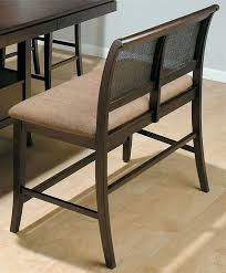 Counter Height Dining Bench Cane Back W Upholstered Seat To Maximize Seating At The Table