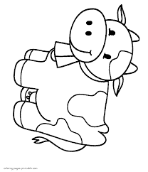 Cow Coloring Page For Toddler