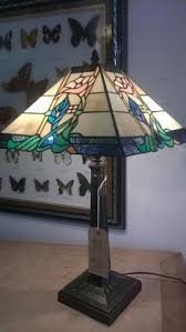 Tiffany Style Lamps Vintage by Vintage Tiffany Style Table Lamp With Glass Decorative Shade On