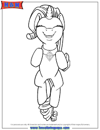 Happy My Little Pony Rarity Unicorn Smiling Coloring Page