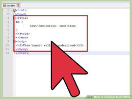 how to underline text in html with pictures wikihow