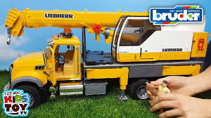 BRUDER Toys Crane Truck MACK Granite Liebherr Unboxing For Kids ... Authentic Bruder Toys Man Telecrane Tc 4500 Crane Truck New In Box Kavanaghs Bruder Mercedes Benz Arocs Crane Truck With Lights Yellow With 360degree Swiveling 02754 Cstruction Tga Castle 02769 Forestry Timber With Loading Amazoncom Man And 3 2 Mack Granite Liebherr Games Truck Franc Jeu Rosemere News 2017 Unboxing Dump Garbage Crane Tgs By Fundamentally